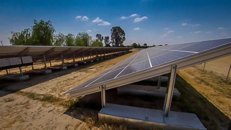 Ballasted Ground Mounted Solar